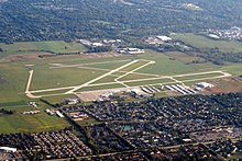 Aerial view of Ohio State University Airport, September 2019.JPG