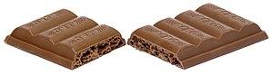 Aero (chocolate) - An Aero split