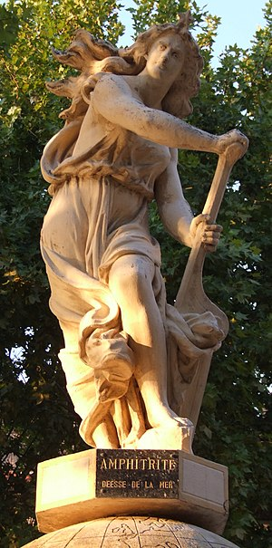 "Léon François Chervet - Allegorical figure by Léon François Chervet, now at Agde, as ""Amphitrite"""