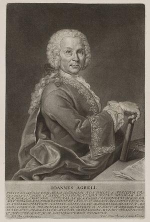 Johan Agrell - Johan Joachim Agrell by Valentin Daniel Preisler (1754)