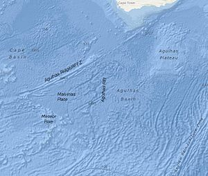 Agulhas Basin - The Agulhas Basin and some of the bathymetric structures mentioned in the text