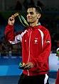 Ahmad Abughaush, 2016 Summer Olympics in Rio de Janeiro, men's 72 kg.jpg
