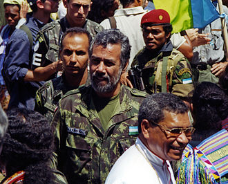International Force East Timor - Return of Xanana Gusmão from Indonesian prison (1999).