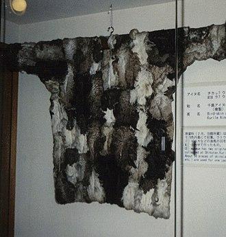 Ainu in Russia - Rapuri, Kuril Ainu bird skin coat