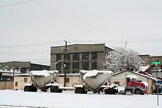 Santa Fe Railway Shops (Albuquerque) - The railroad shops as seen from the Barelas neighborhood