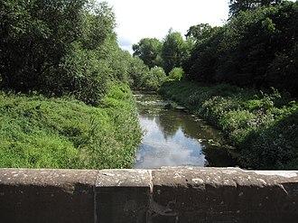 Aldford Brook - Aldford Brook south of Aldford Bridge