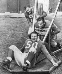 Alex Wojciechowicz, Emil Uremovich, Frank Szymanski 1946.jpg