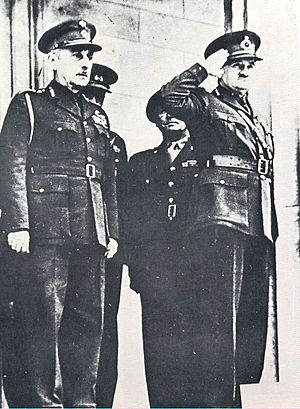 Alexandros Papagos - Papagos (left) with General Archibald Wavell, General Officer Commanding-in-Chief of the Middle East Command of the British Army, in Athens in January 1941