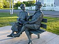 Alexander and Mabel Bell statue, Baddeck Nova Scotia June 2014.jpeg