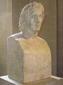 « Hermès Azara » : pilier hermaïque romain reprenant le portrait d'Alexandre le Grand par Lysippe, musée du Louvre