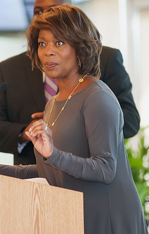 Alfre Woodard - Woodard at Johnson C. Smith University in 2012