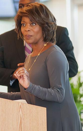 Alfre Woodard - Woodard at Johnson C. Smith University in 2012