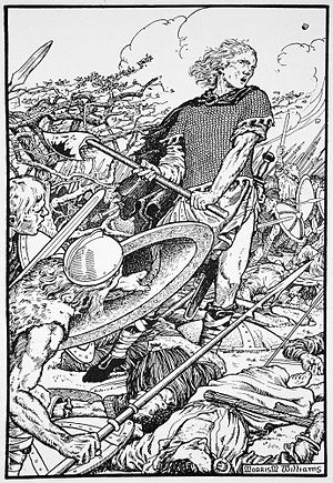 Alfred the Great at the Battle of Ashdown by Morris Meredith Williams.jpg