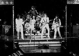 Love It to Death - The band's success grew rapidly after the release of Love It to Death with a reputation for its flamboyant live show (pictured in 1973).