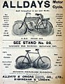 Alldays Bicycle and motorcycle ad (1904).jpg