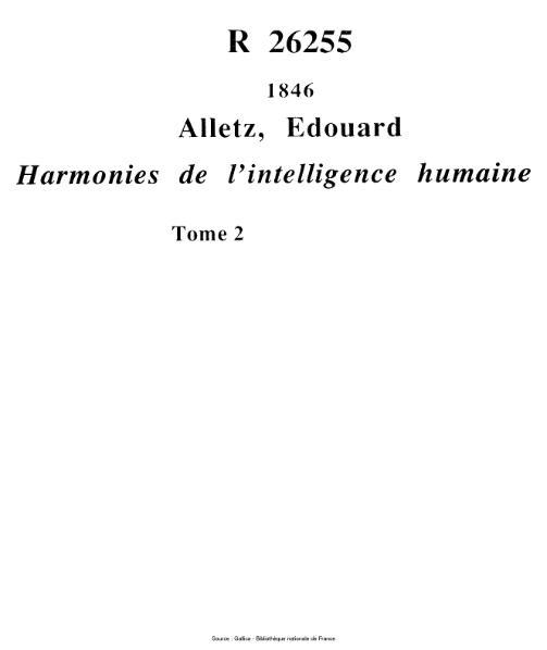File:Alletz - Harmonies de l'intelligence humaine, tome 2.djvu