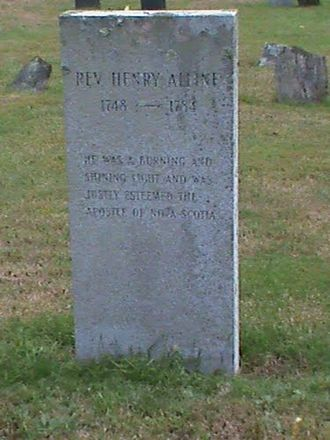 Henry Alline - Alline's Tombstone, Hampton, New Hampshire