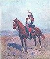 Alphonse Chigot (1823-1917), military painter, Un cavalier (1870).jpg