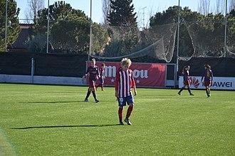Atlético Madrid Femenino - Amanda Sampedro, playing for Atleti in 2016