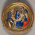 Ambito parigino, piccola pietà rotonda, 1410 ca..JPG