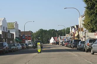 Amherst, Wisconsin - Looking north at downtown Amherst