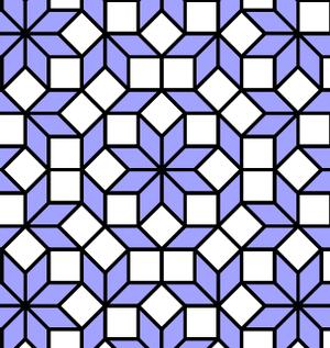 Ammann–Beenker tiling - Close up of tiling