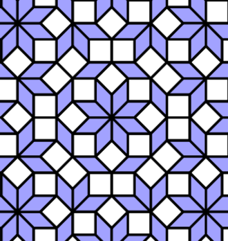 Hexicated 7-simplexes - The vertices of the A7 2D orthogonal projection are seen in the Ammann–Beenker tiling.