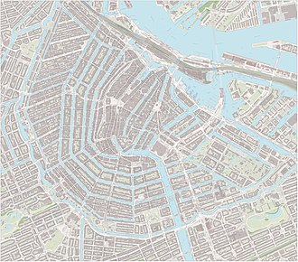 Large-scale map of the city centre of Amsterdam, including sightseeing markers, as of April 2017 . Amsterdam-centrum-OpenTopo.jpg