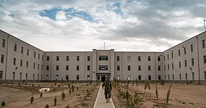 Marshal Fahim National Defense University - Image: An Afghan National Defense University (ANDU) instructor exits an academic hall at the school in Kabul, Afghanistan, May 7, 2013 130507 F OF869 007