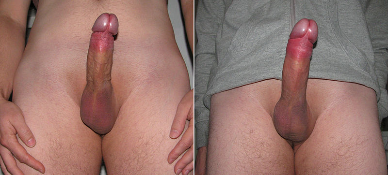 Cock after penis pump are