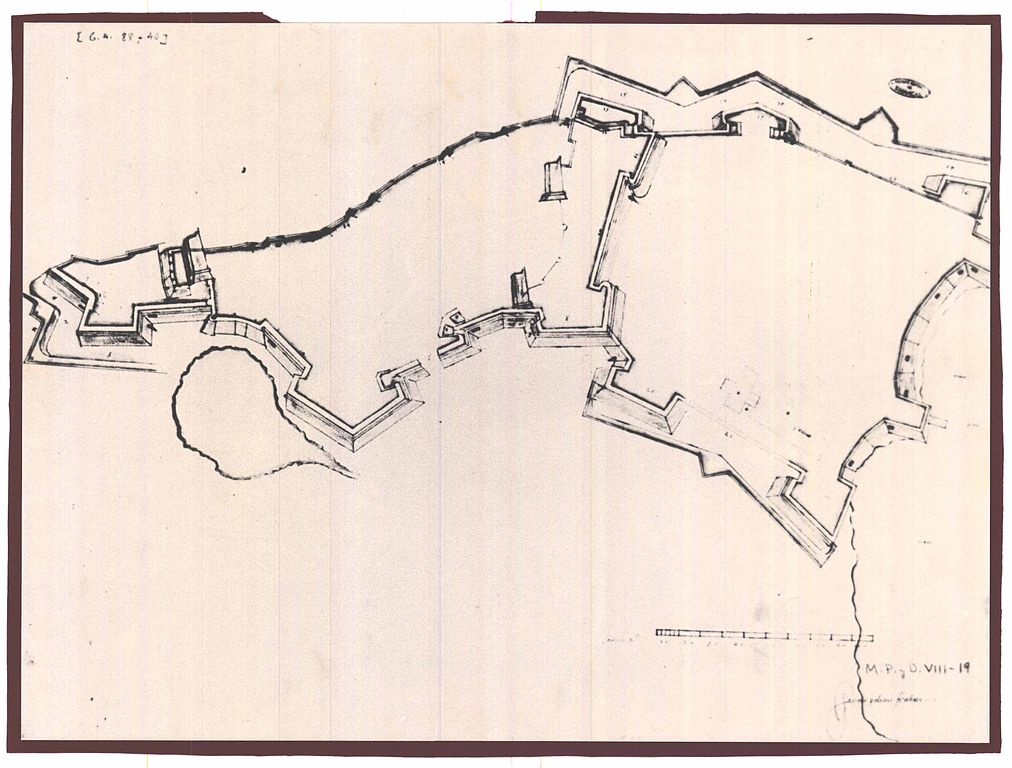 fileancient map of the circuit wall of the acropolis the