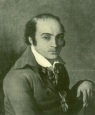 André Chénier - Portrait during his last captivity by Suvée