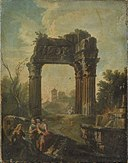 Andrea Locatelli (Kopie nach) - Architekturbild mit Vespasianstempel am Forum Romanum - 6002 - Bavarian State Painting Collections.jpg