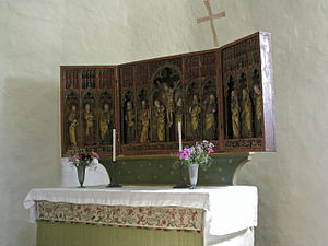 Anga Church, Gotland - The altarpiece of Anga Church (1370s)