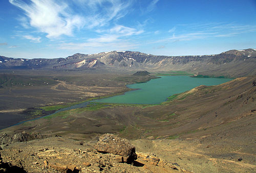 Surprise lake, inside Aniakchak caldera
