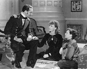 Anna Karenina (1935 film) - Basil Rathbone, Greta Garbo and Freddie Bartholomew in Anna Karenina