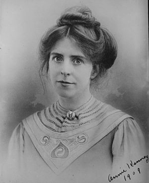 Annie Kenney - Annie Kenney in 1909