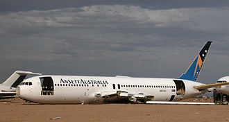 Ansett Australia - Boeing 767-200 VH-RMO being scrapped at the Mojave Airport & Spaceport