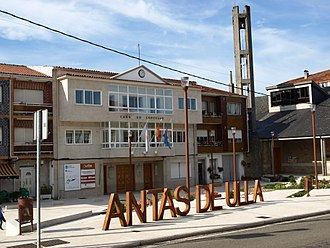 Antas de Ulla - Image: Antas Praza Concello