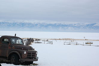 Antelope Island State Park - An old Dodge pick up truck is a reminder of the days when Antelope Island State Park was an active ranch.