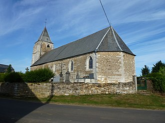 Antheny - Image: Antheny (Ardennes) Église Saint Remy, chevet