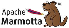 The logo of Apache Marmotta