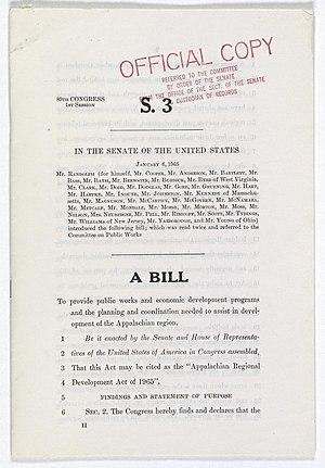 Appalachian Regional Development Act - The Senate passed the Appalachian Regional Development Act (S.3) on February 1, 1965.