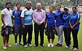 Archers and coach Purnima Mahato of India Archery team before london olympics.jpg