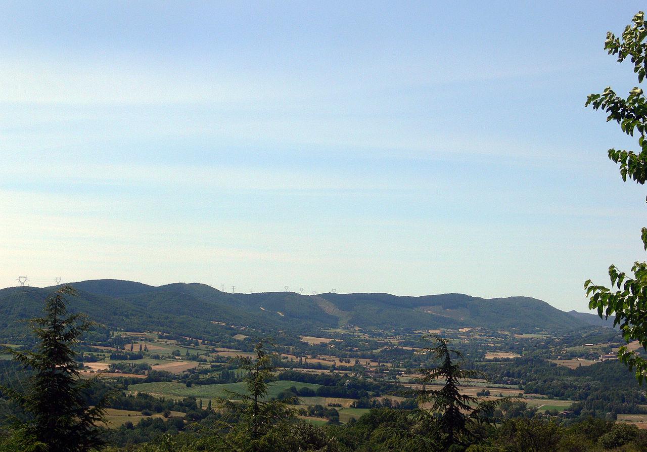 Ardèche - Saint-Lager Bressac and Saint-Vincent de Barrès Valley.JPG