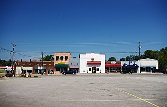 Ardmore, Tennessee - Buildings along Main Street (SR 7)