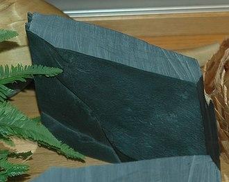 Argillite - A piece of black argillite from Haida Gwaii, Canada