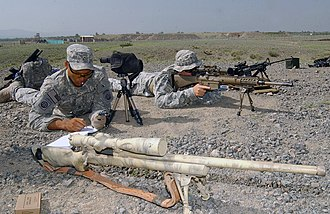 M24 Sniper Weapon System - A U.S. Soldier training with a M24