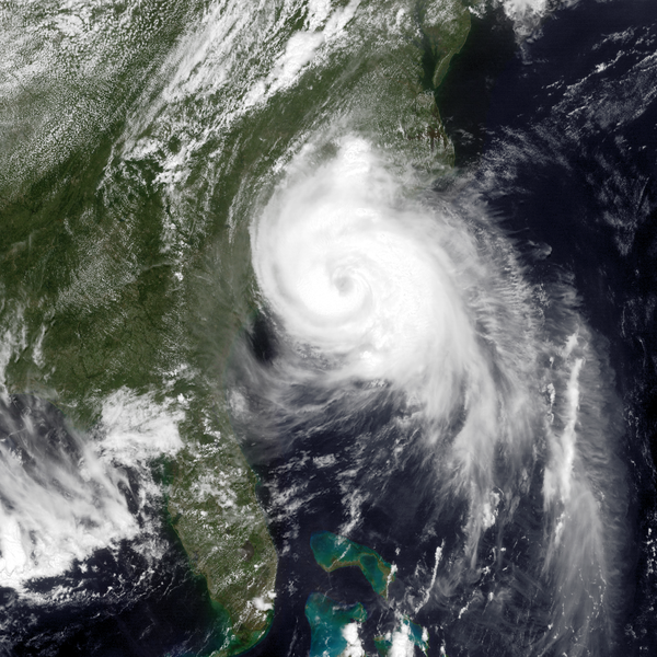 Hurricane Arthur makes landfall, July 3, 2014