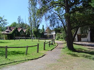Art colony - Artist houses in Montsalvat near Melbourne, Australia.